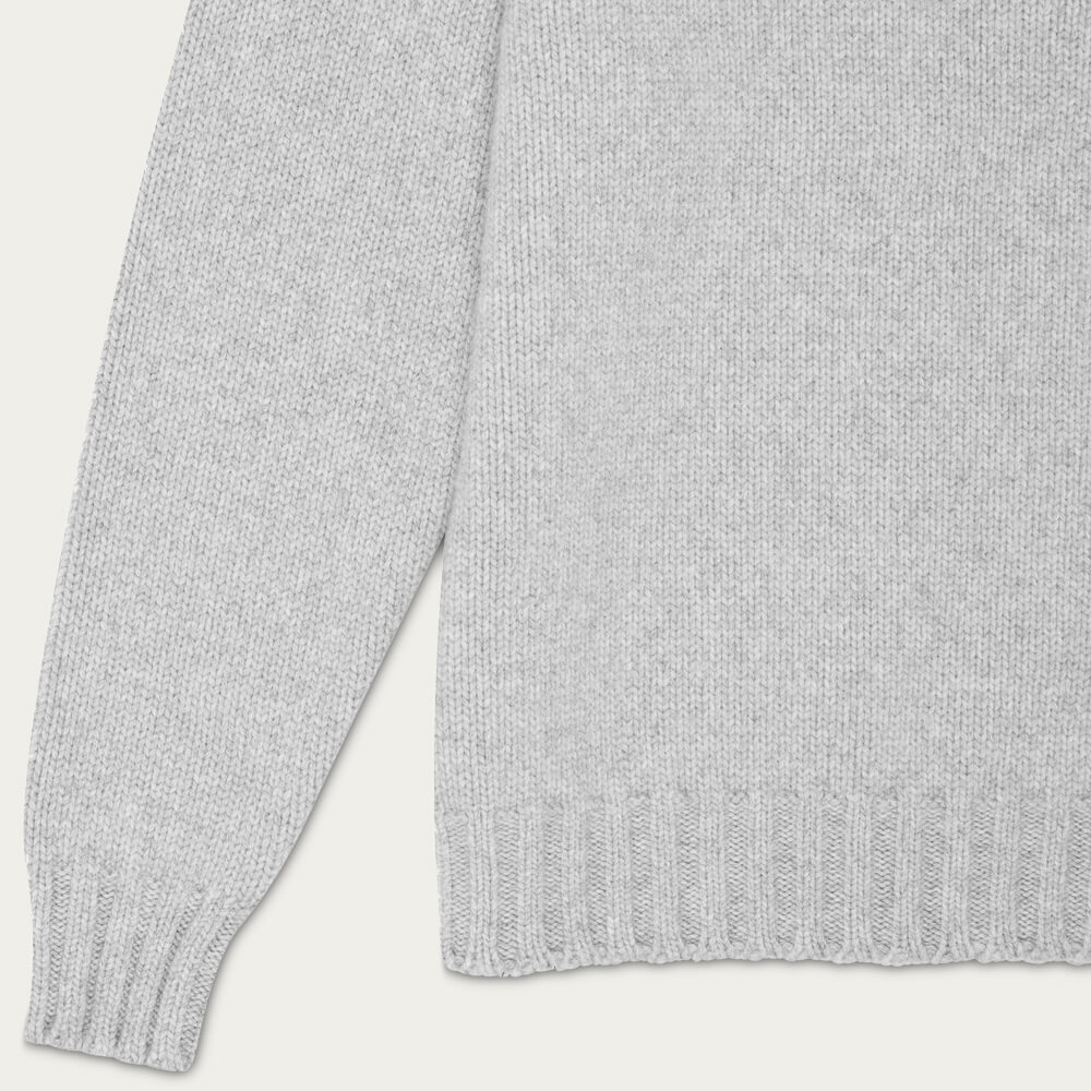 Light Grey Nimrod Cashmere Funnel Neck Sweater | Bombinate