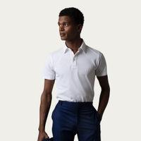 Optic White Sea Island Cotton Piqué Polo Shirt | Bombinate
