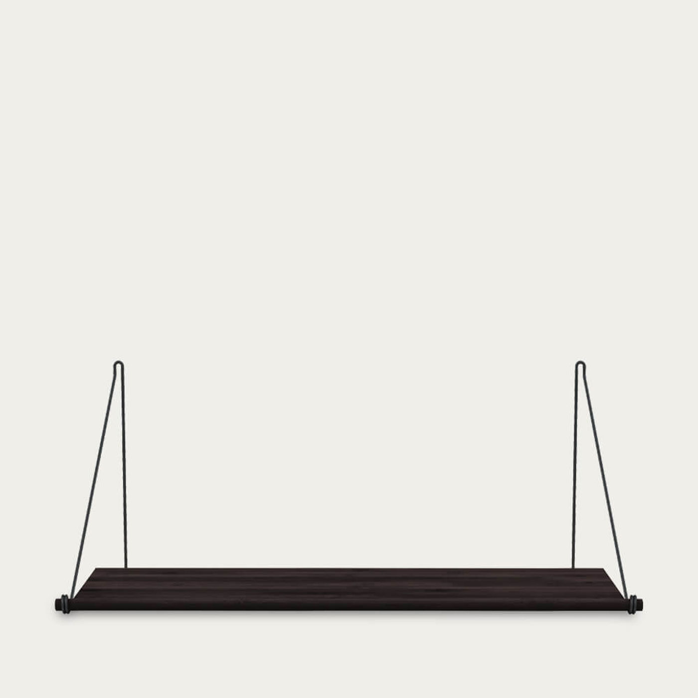 Black Steel Loop Shelf Dark | Bombinate