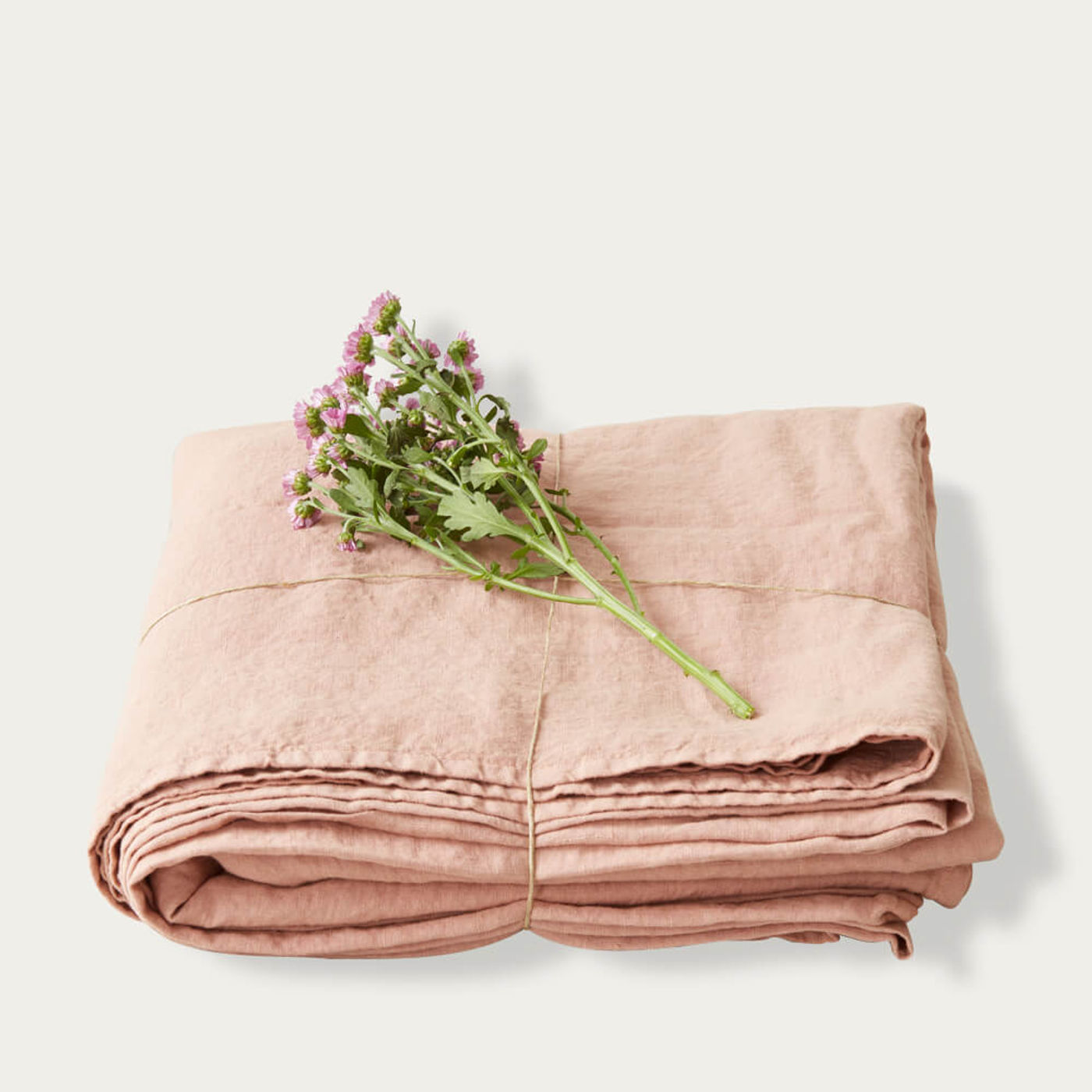 Cafe Creme Washed Linen Bed Set | Bombinate