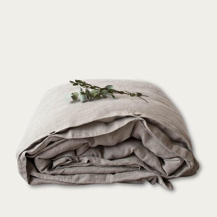 Melange Washed Linen Bed Set | Bombinate