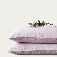 Pink Lavender Washed Linen Bed Set | Bombinate
