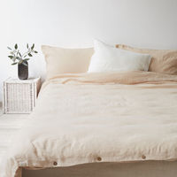 Shifting Sand Washed Linen Bed Set | Bombinate