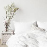 White Washed Linen Bed Set | Bombinate