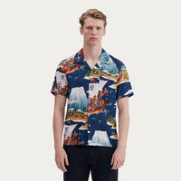 Blue Cuban Short Sleeve Shirt | The Fuji Merchant | Bombinate