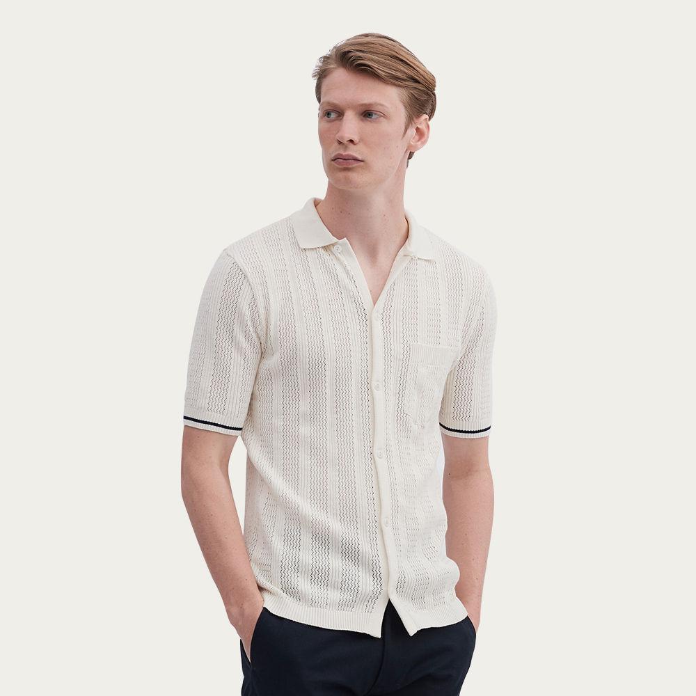 Cream Kodo Knit Shirt   Bombinate