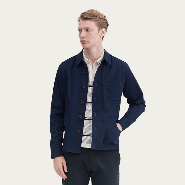 Navy Outershirt | Worker Twill | Bombinate
