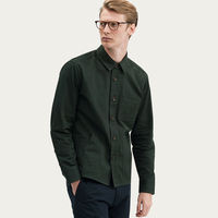 Olive Green Outershirt | Twill | Bombinate