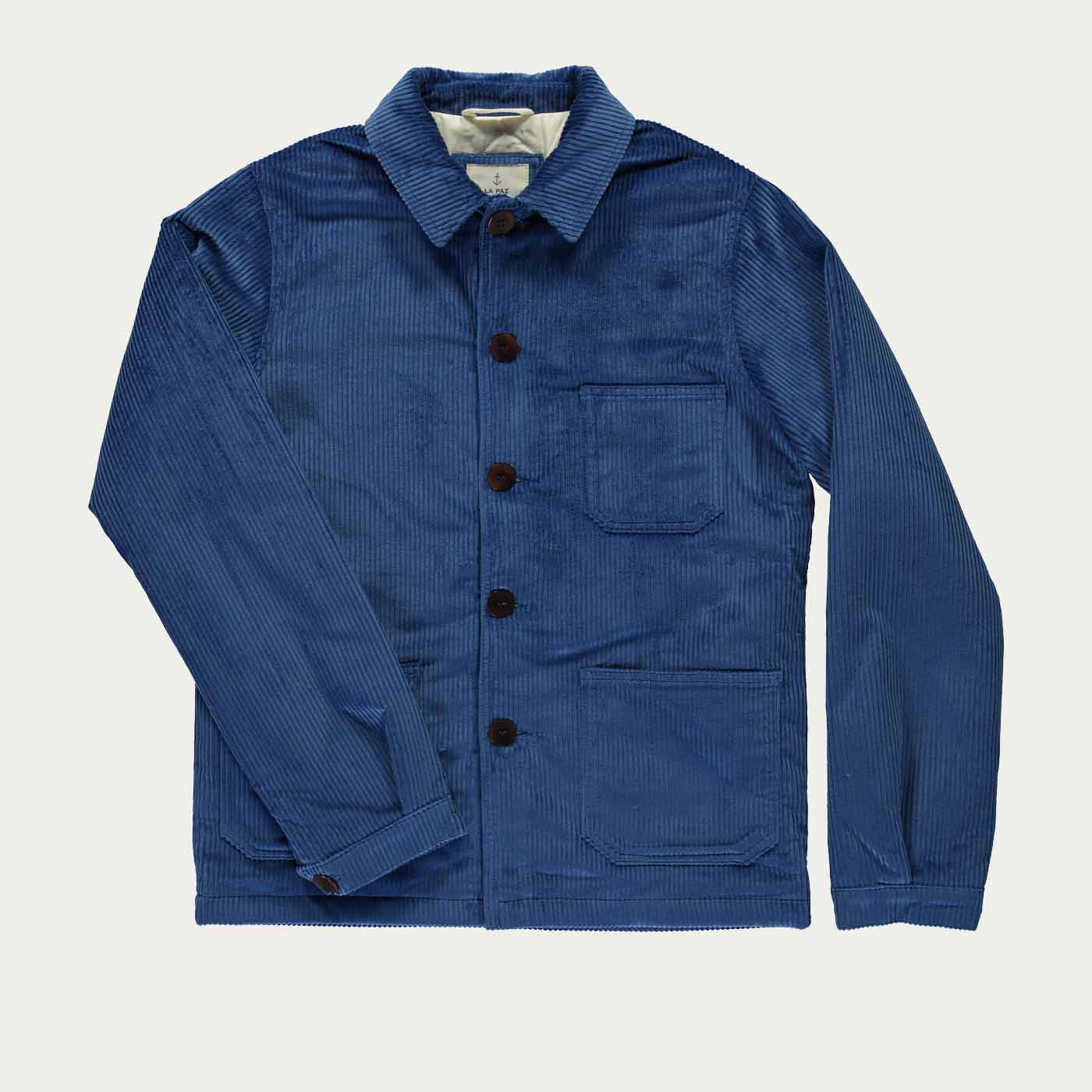 Blue Corduroy Baptista Worker Jacket | Bombinate