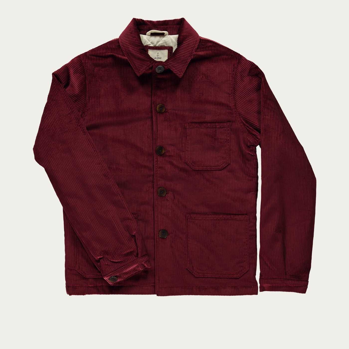 Burgundy Corduroy Baptista Worker Jacket | Bombinate