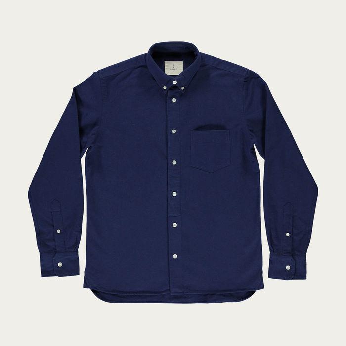 Navy Branco Button Down Shirt | Bombinate