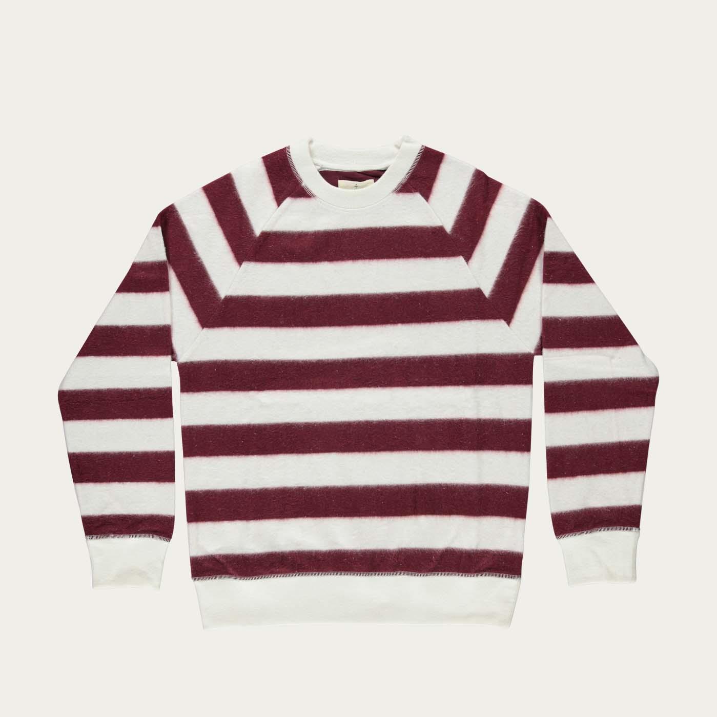 Burgundy Stripes Cunha Sweatshirt | Bombinate