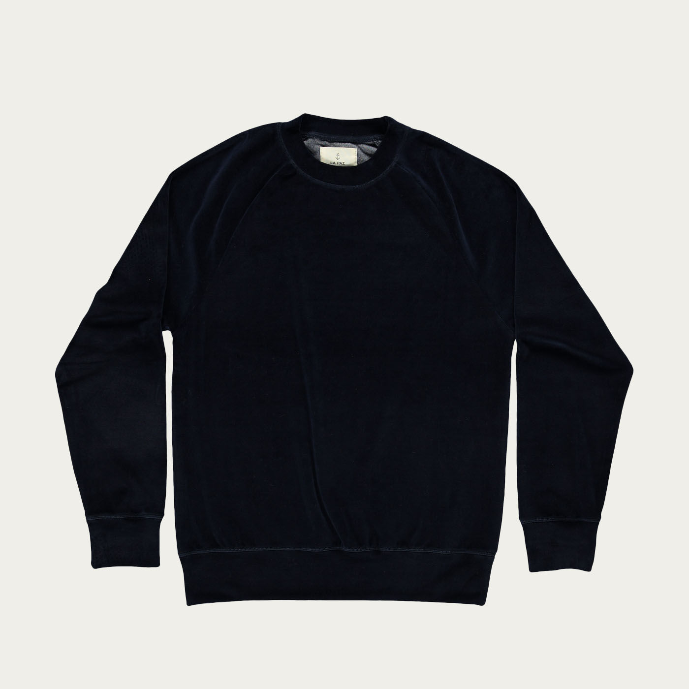 Navy Velour Cunha Sweatshirt | Bombinate