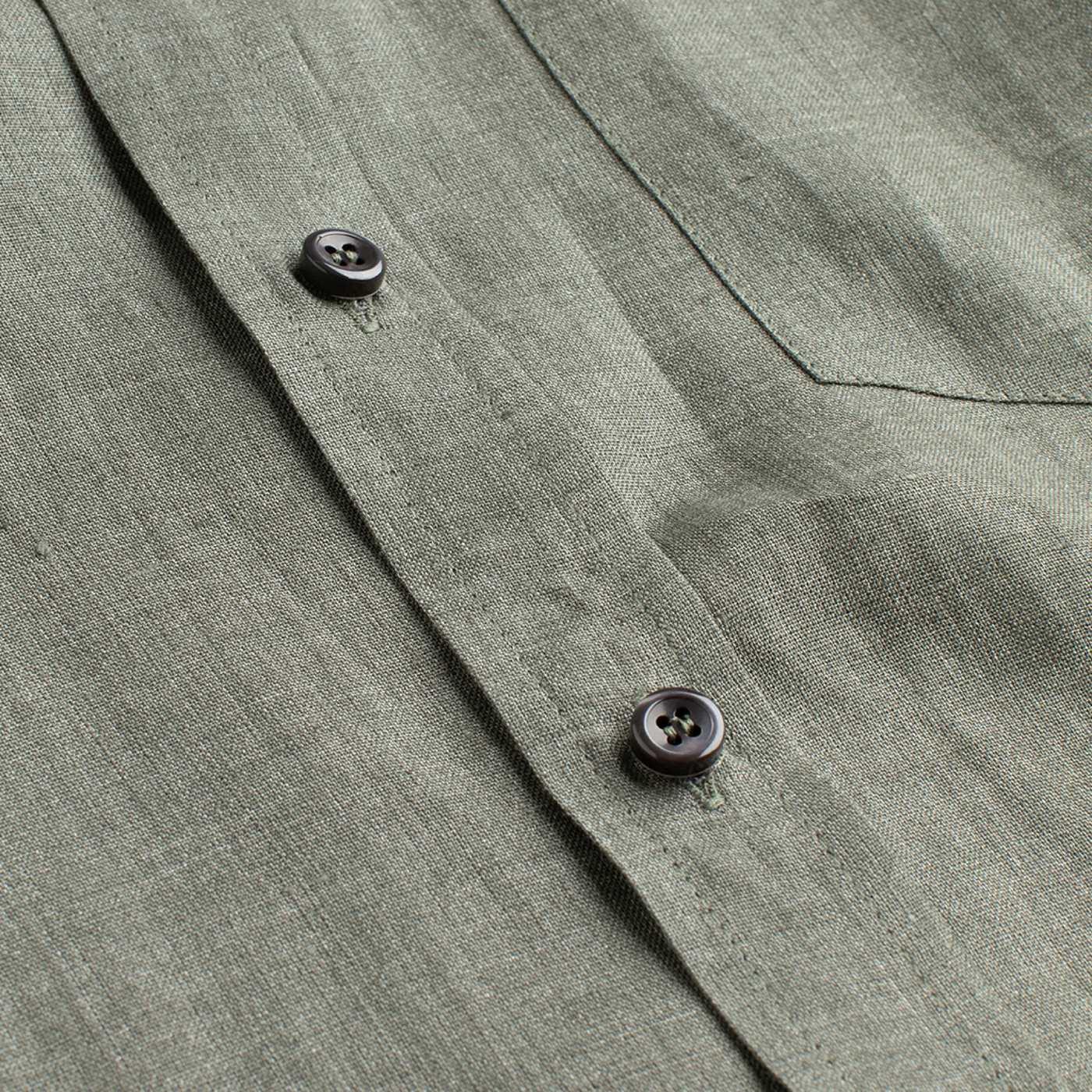 Green Linen William Button Down Shirt  | Bombinate