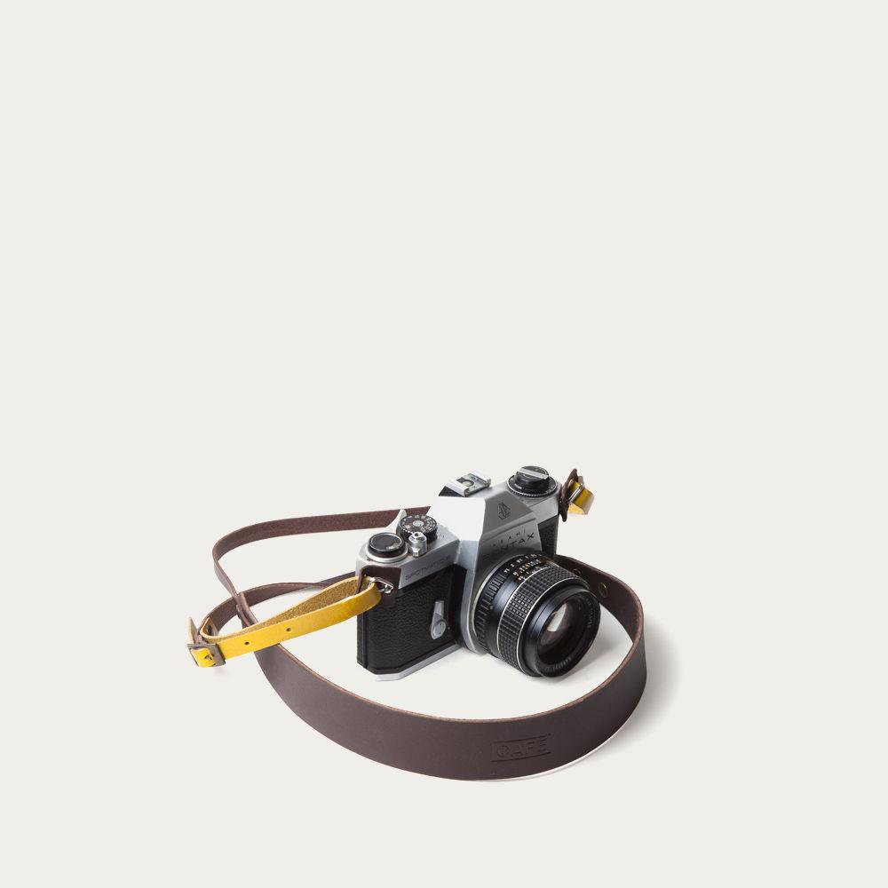 Black Coffee Camera Strap    Bombinate