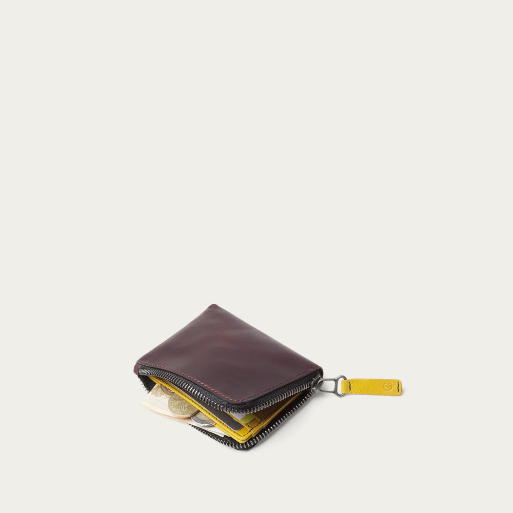 Black Coffee Osaka Zip Wallet  | Bombinate