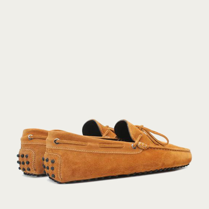 Orange Suede Driving Shoes   Bombinate