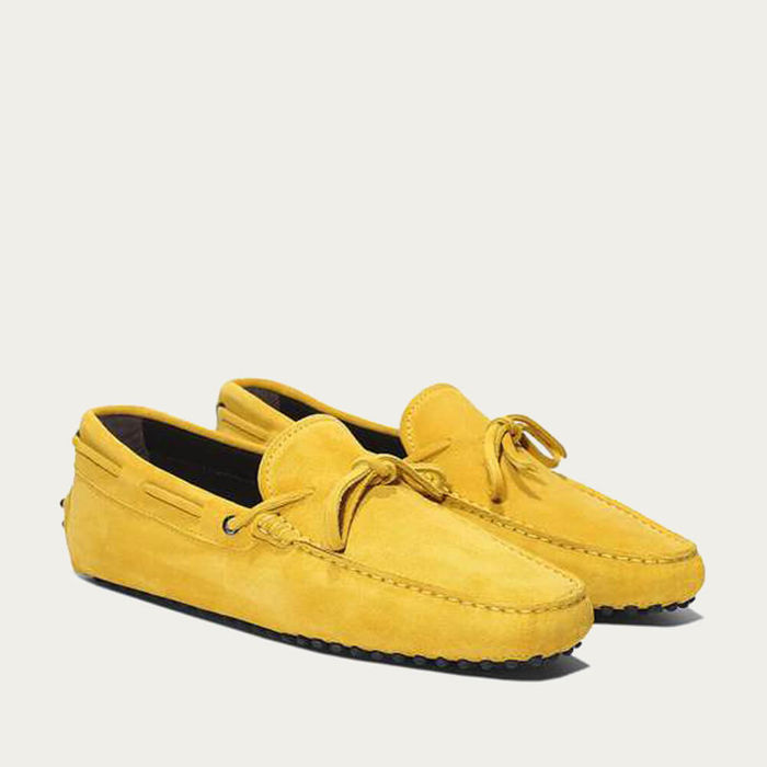 Yellow Suede Driving Shoes | Bombinate