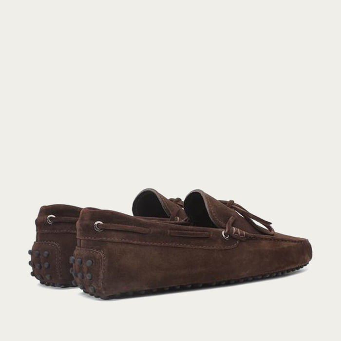 Chocolate Suede Driving Shoes | Bombinate