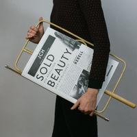 Natural Newspaper Holder | Bombinate