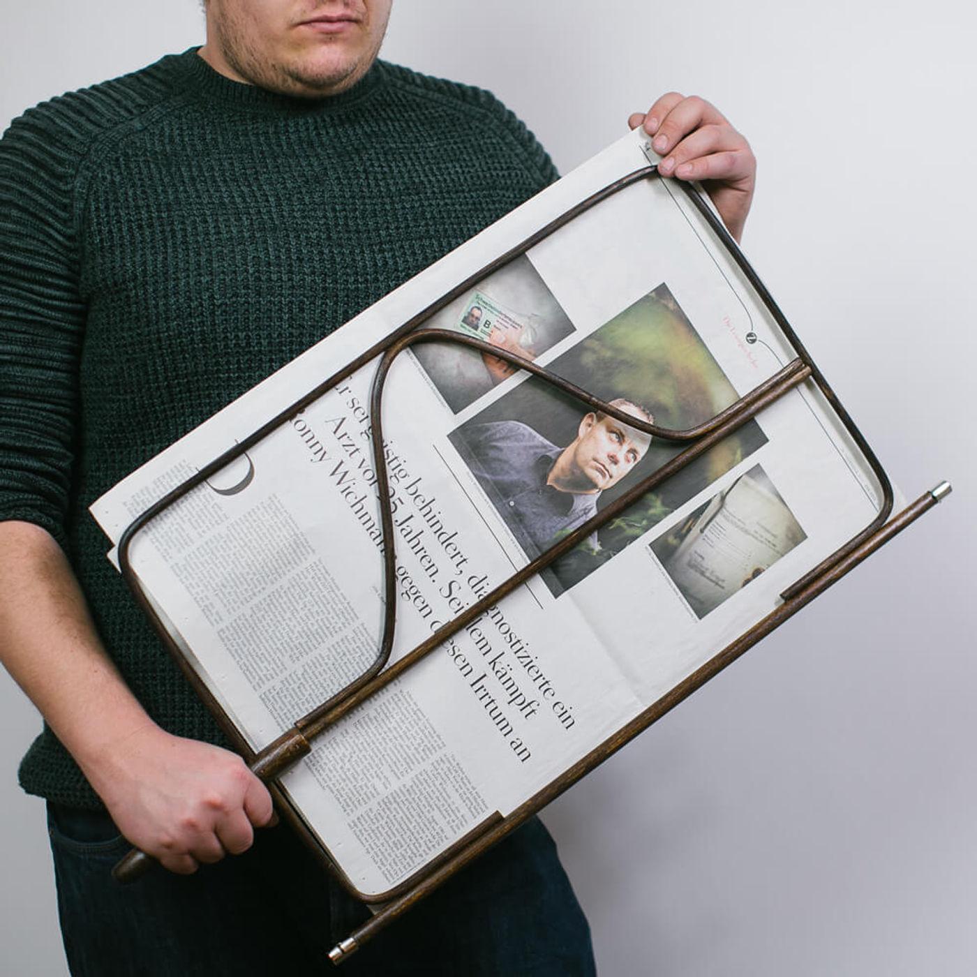 Brown Newspaper Holder | Bombinate