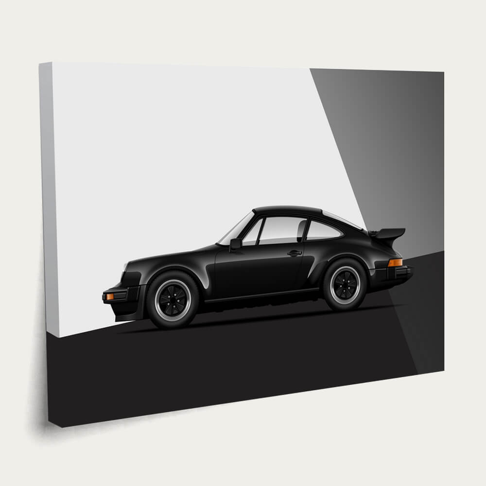 Turbo Charged Beauty – 911 930 Turbo Canvas Print - Car Poster   Bombinate