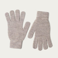 Fawn Mens Merino Wool Knitted Gloves | Bombinate