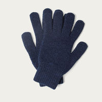 Navy Mens Merino Wool Knitted Gloves | Bombinate