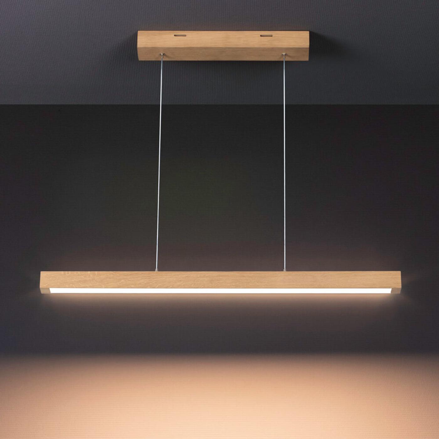 Oiled Oak Tore 2 LED Pendant Lamp | Bombinate