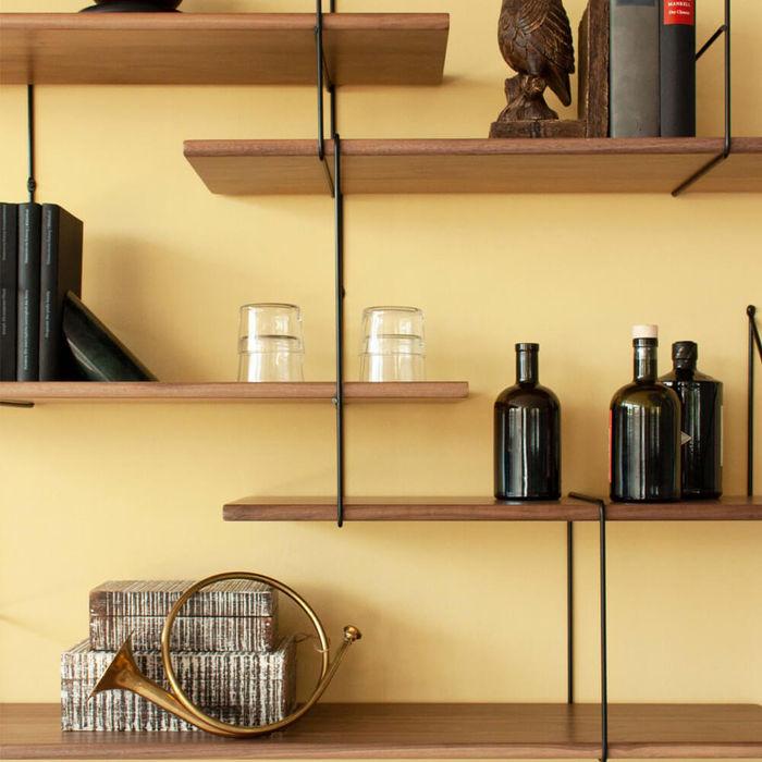 Walnut/Black Link Set 2 Shelf | Bombinate