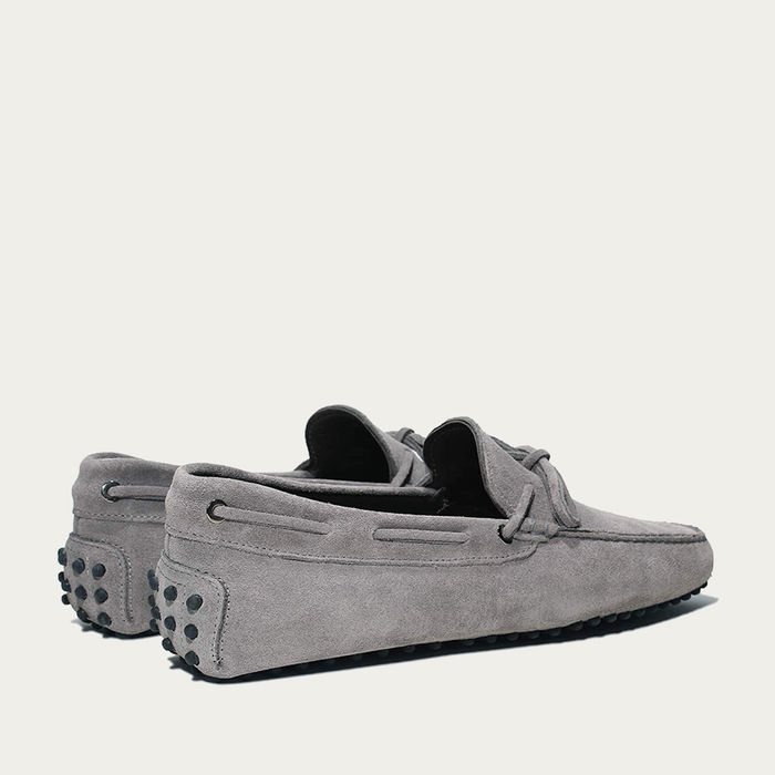 Grey Suede Driving Shoes | Bombinate