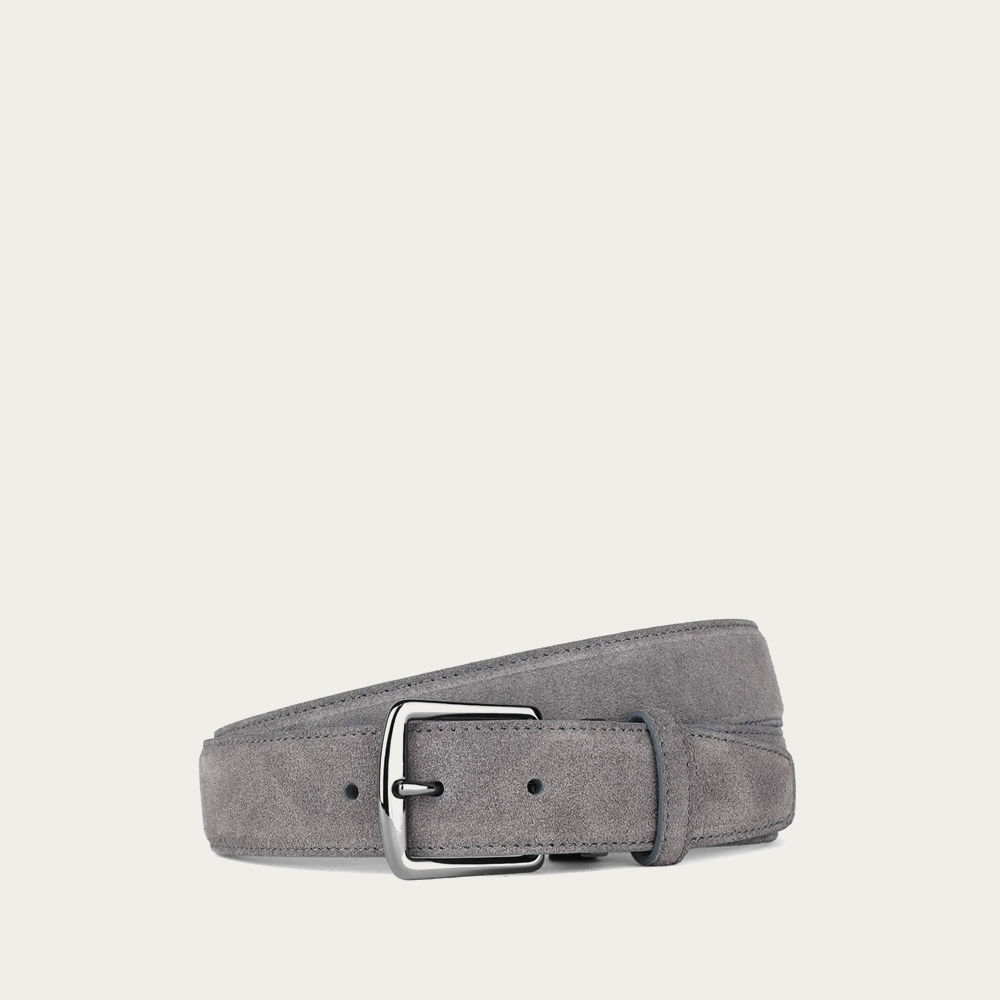 Grey Suede Leather Belt | Bombinate