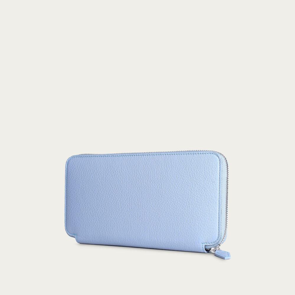 Light Blue Zipper Wallet | Bombinate