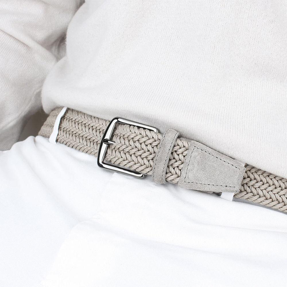 Light Grey Waxed Cotton Belt | Bombinate