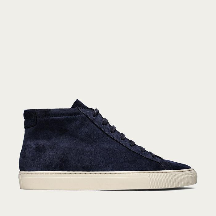 Navy Cambridge High Sneaker | Bombinate