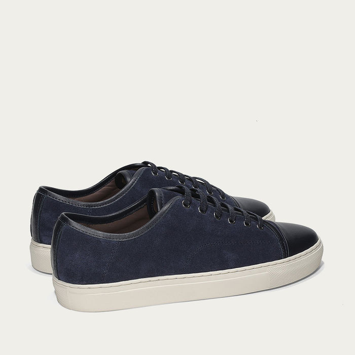 Navy Cap-toe Sneaker | Bombinate