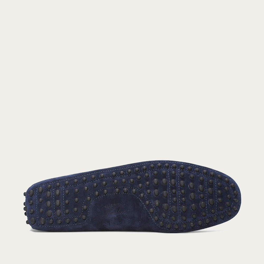 Navy Suede Driving Shoes | Bombinate