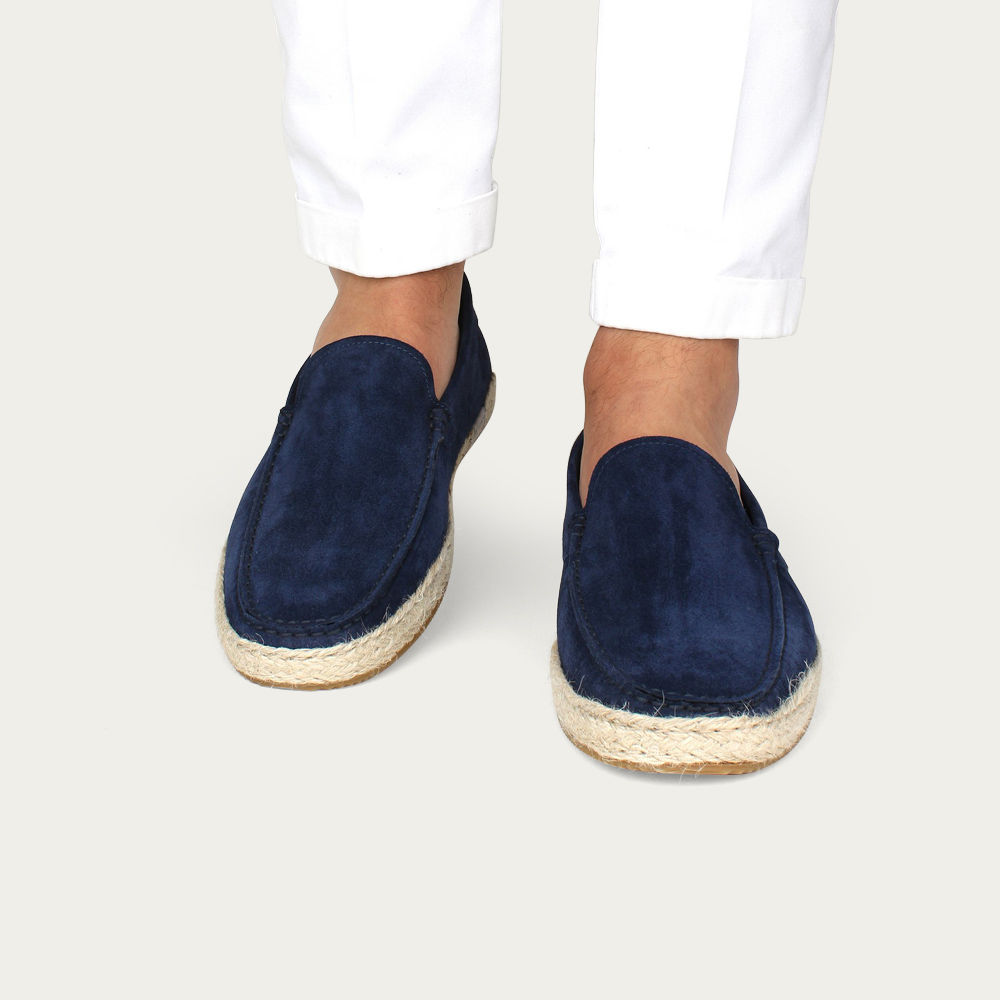 Navy Suede Seaside Loafer | Bombinate