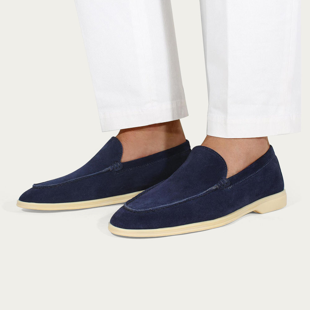 Navy Suede Yacht Loafer | Bombinate