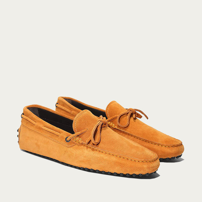 Orange Suede Driving Shoes | Bombinate