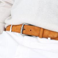 Orange Suede Leather Belt | Bombinate