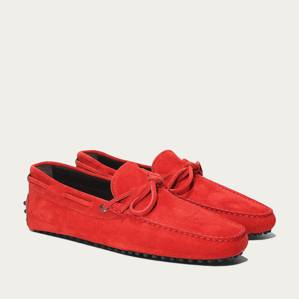 Red Suede Driving Shoes | Bombinate