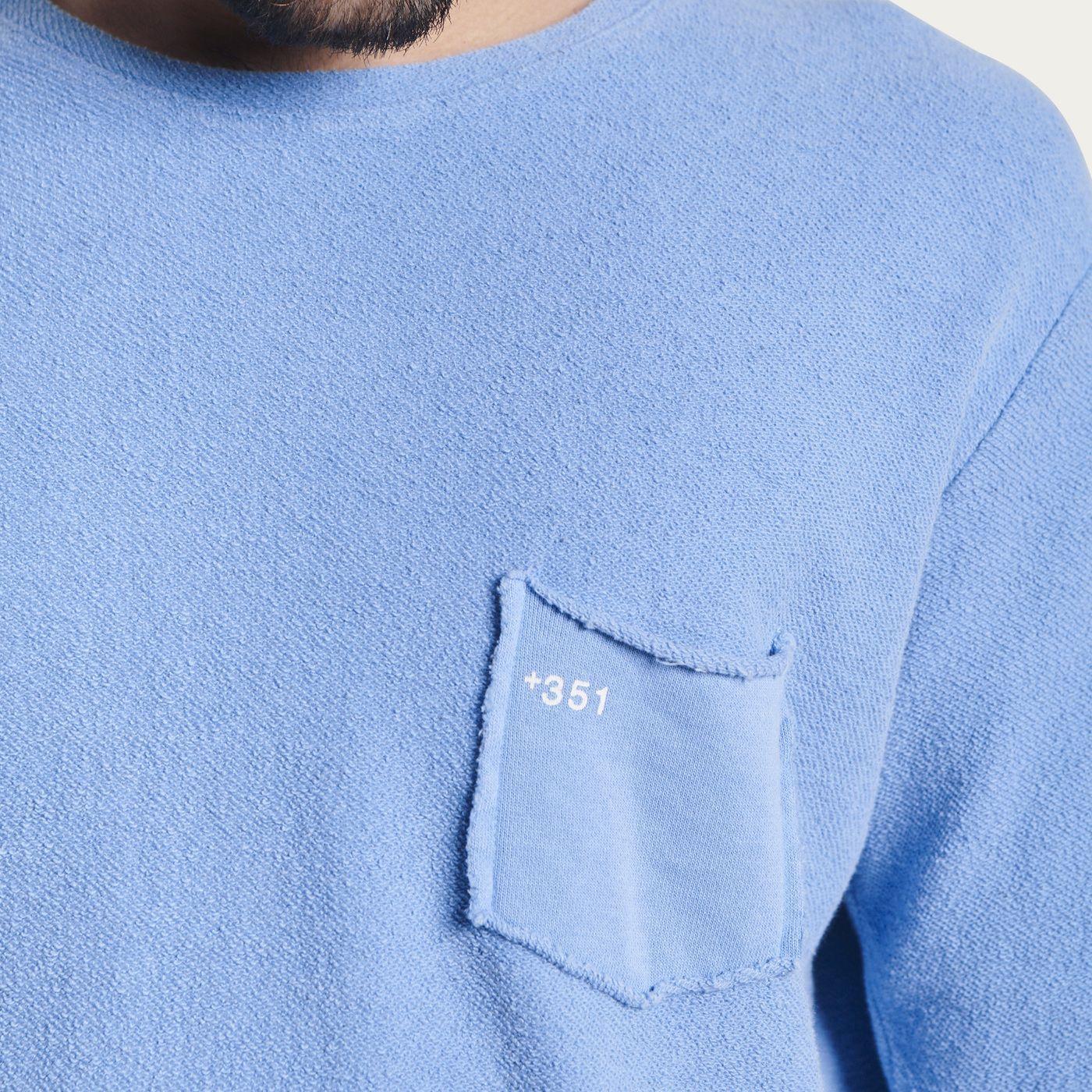 Faded Blue Sky Cotton Sweatshirt Essential | Bombinate