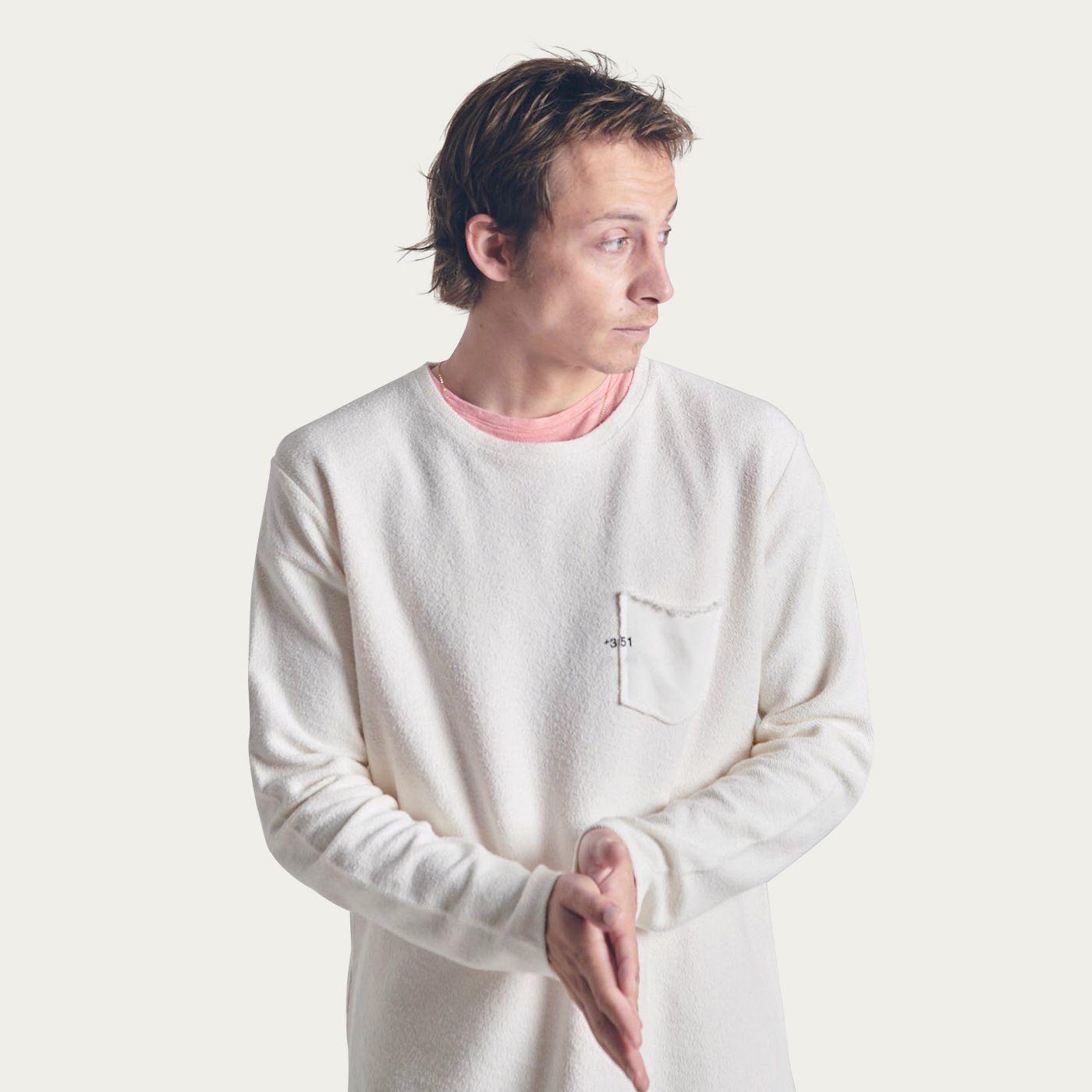Off White Cotton Sweatshirt Essential | Bombinate