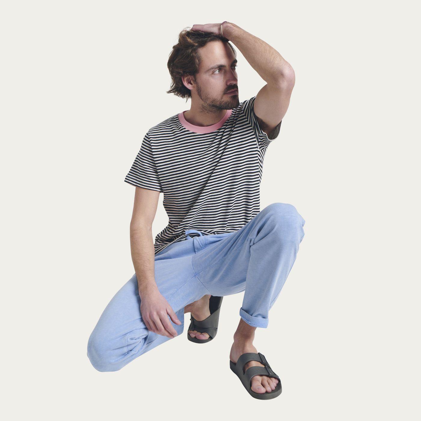 Faded Blue Sky Cotton Jersey Sweatpants | Bombinate