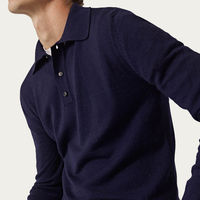 Blue Navy The Merino Wool Polo | Bombinate
