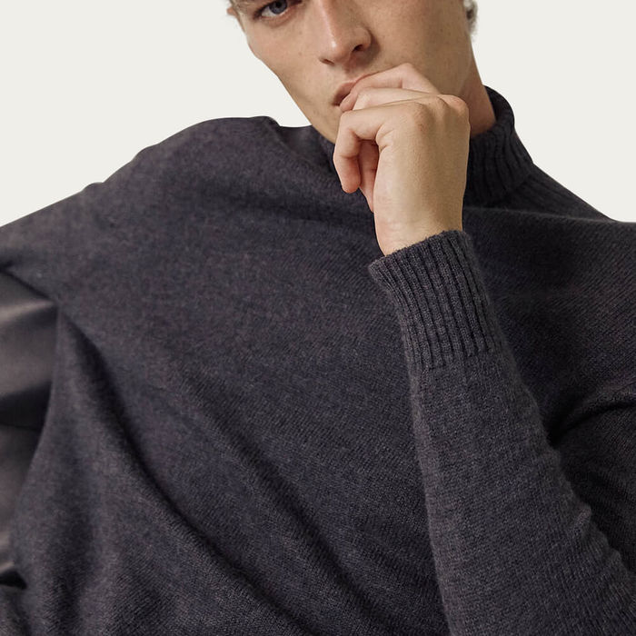 Anthracite The Wool Turtleneck Sweater | Bombinate