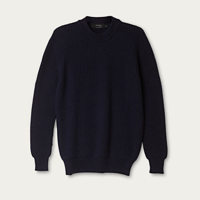 Blue Navy The Wool Perkins Sweater | Bombinate