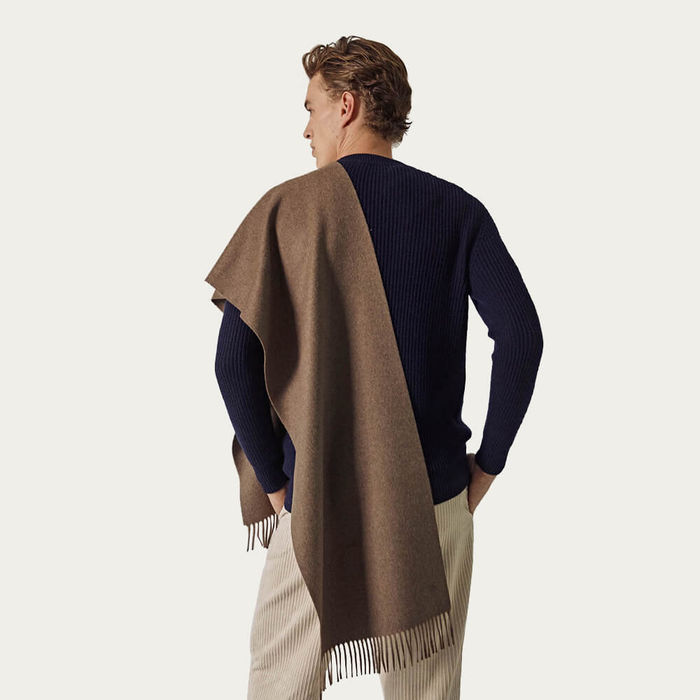 Light Brown The Alpaca Wool Scarf | Bombinate