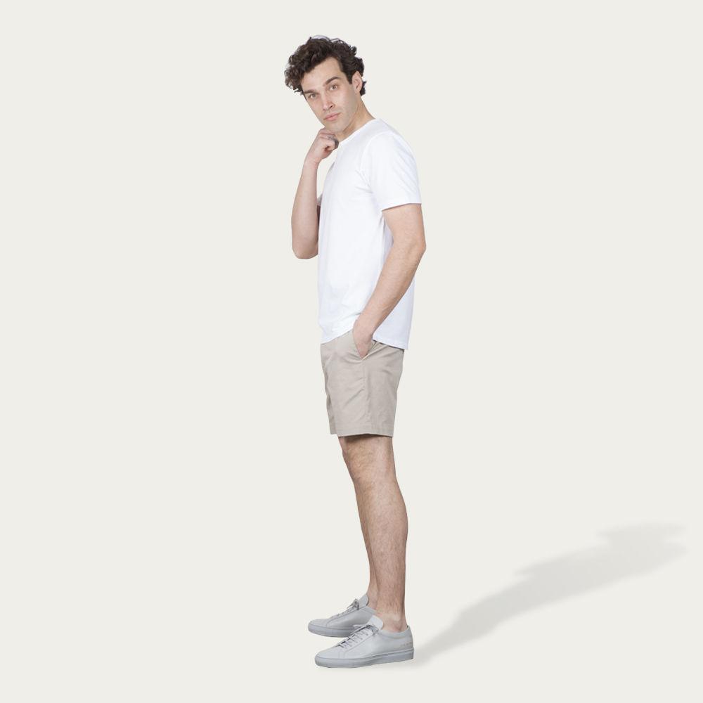 Beige 12 Shorts   Bombinate